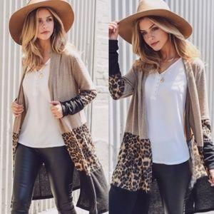 JUST ARRIVED! Leopard print knit cardigans